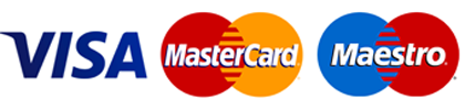 accept visa, mastercard and maestro